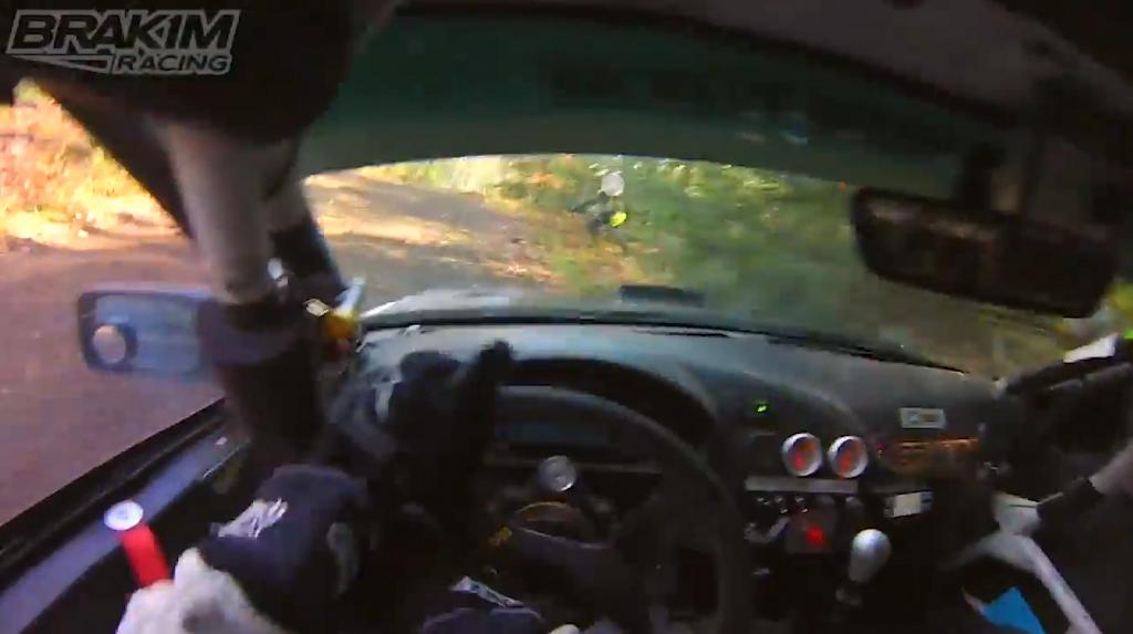 camera man runs into road