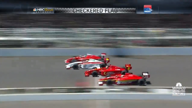 4 Wide Finish Indy Lights