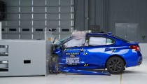 Watch three 2015 Subaru WRX sedans die in IIHS crash tests