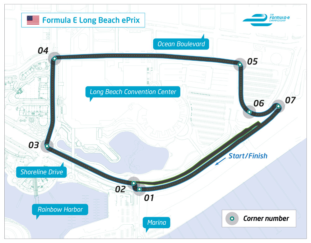 2. The Long Beach Formula E circuit