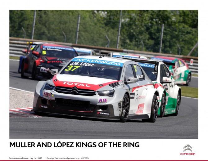 Yvan Muller and José-María López Kings of the Ring