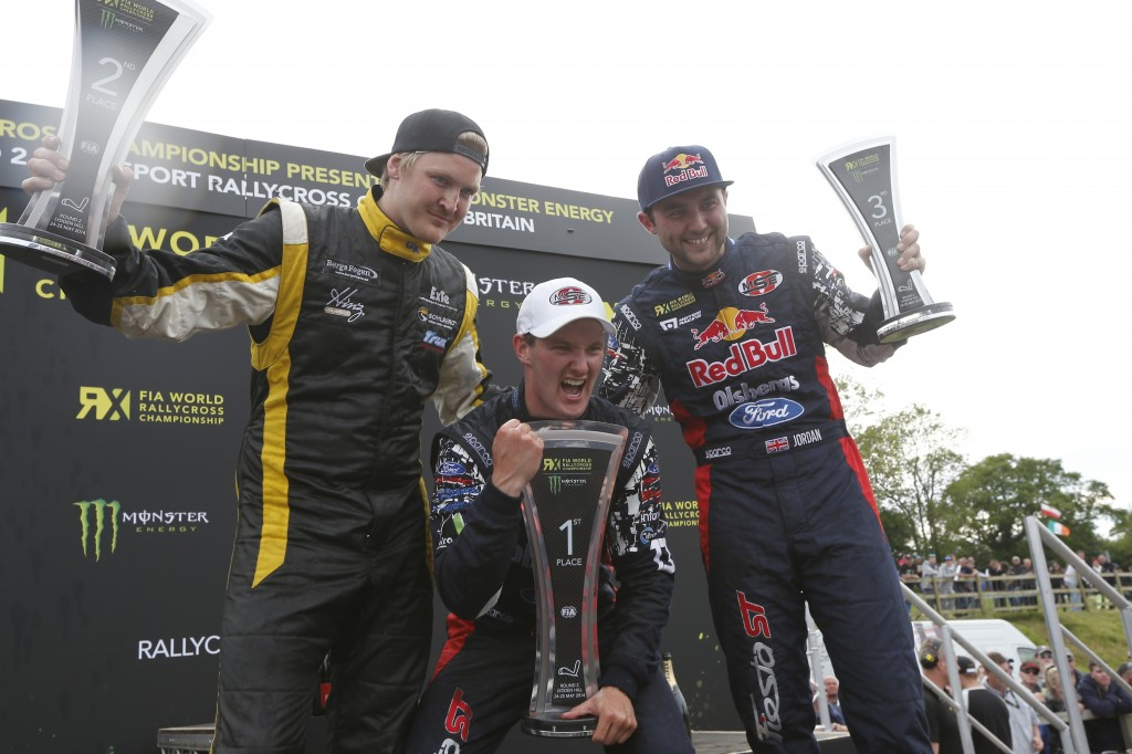 Larsson, Bakkerud and jordan on podium