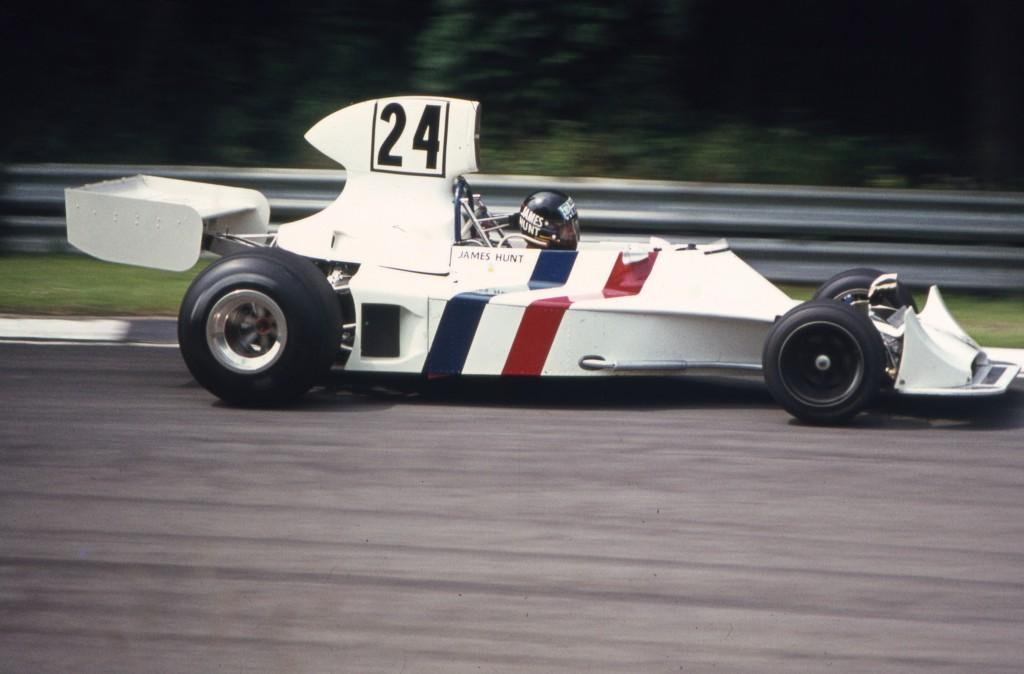 James Hunt at Brands Hatch Grand Prix in 1974