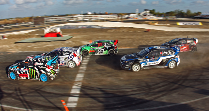 SCOTT SPEED WINS 2014 RED BULL GLOBAL RALLYCROSS SEASON OPENER AT TOP GEAR FESTIVAL BARBADOS