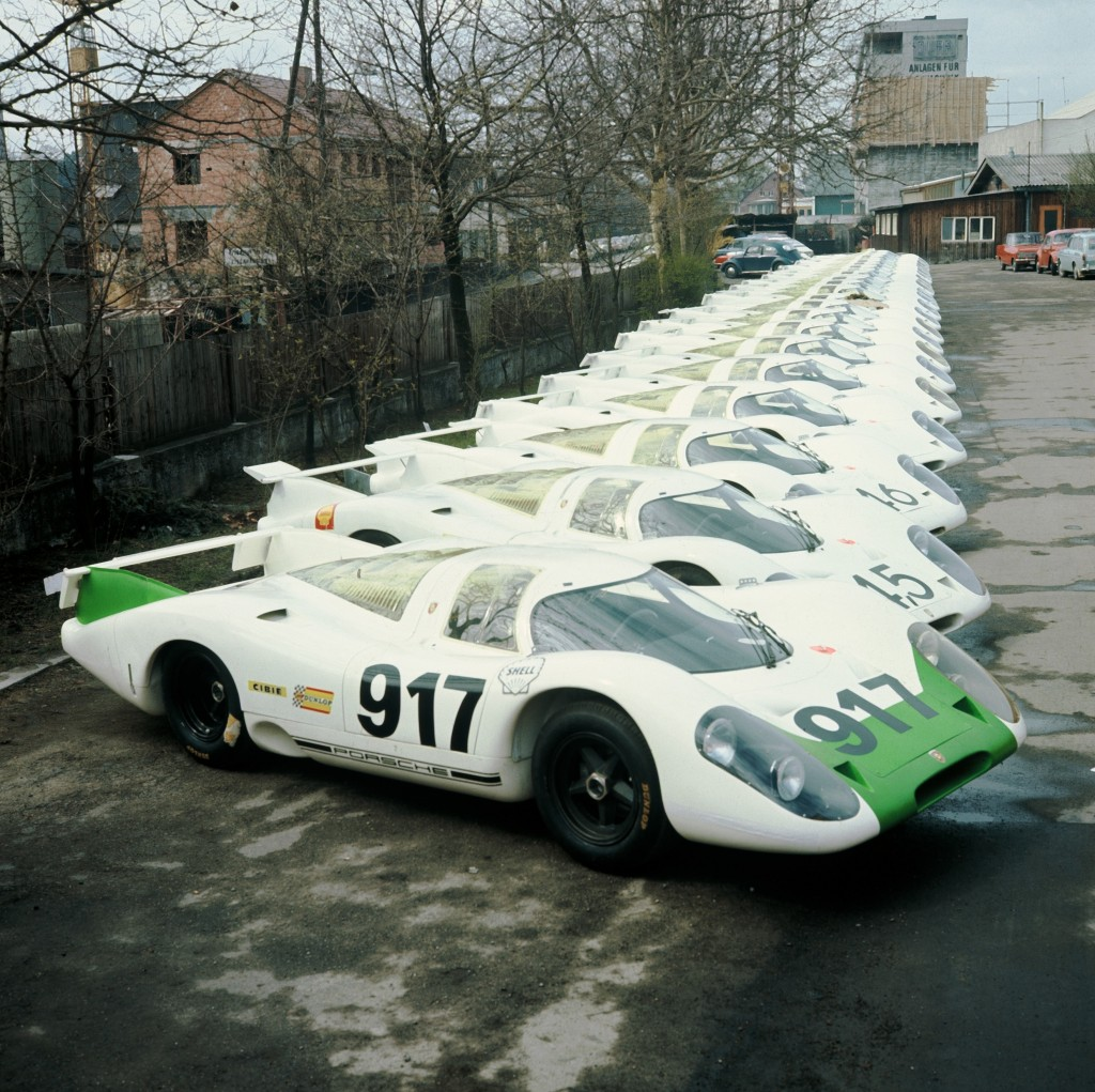 25 examples of the Porsche 917 built in 1969 for motor sport homolgation purposes