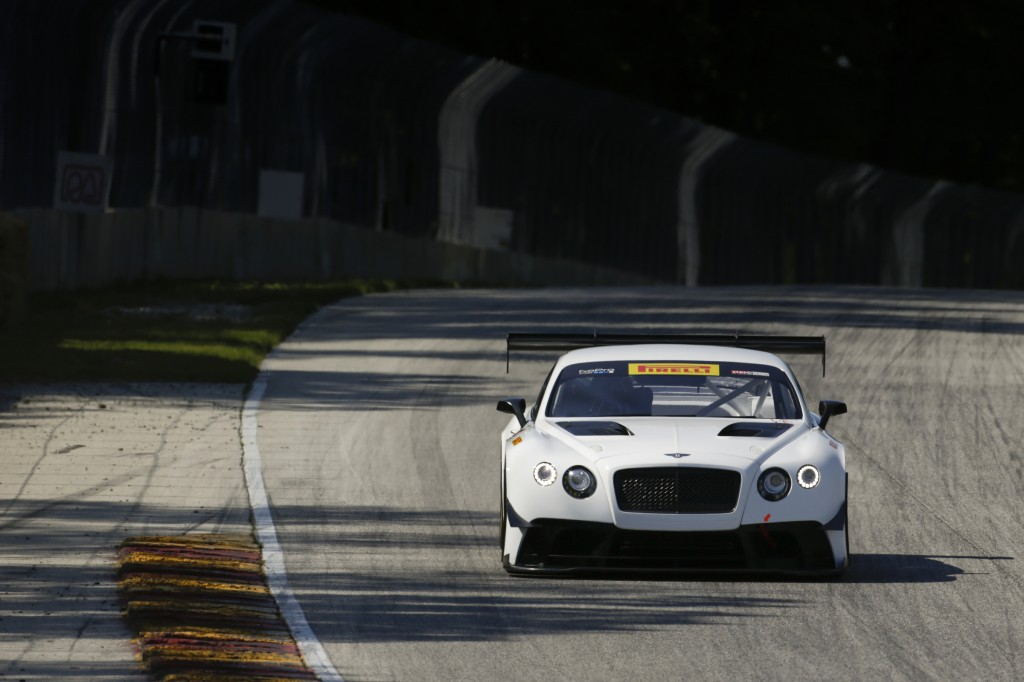 Bentley Continental GT3 test with Dyson Racing, at Road America near Elkhart Lake, Wisconsin June 5 2014