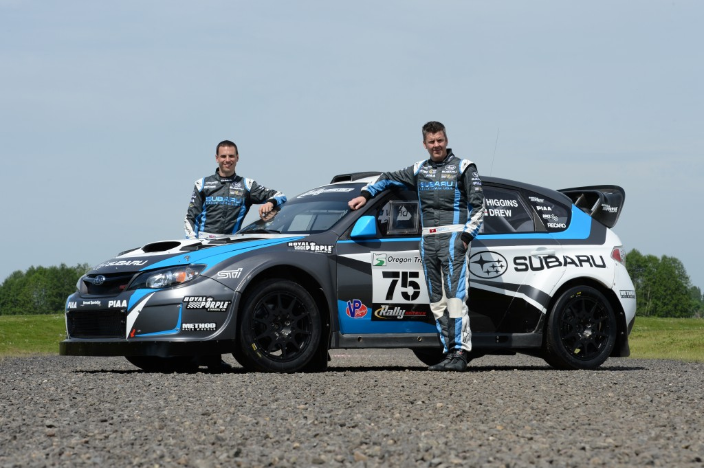David Higgins and Craig Drew will be defending both their Rally America Championship lead and 'King of the Hill' record at the 2014 Subaru Mt. Washington Hillclimb.