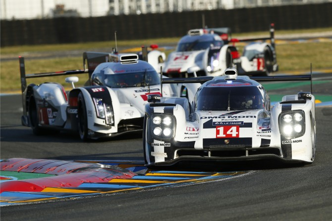 STRONG PERFORMANCE BY PORSCHE 919 HYBRIDS BUT NO DREAM ENDING IN PROTOTYPE RETURN TO LE MANS