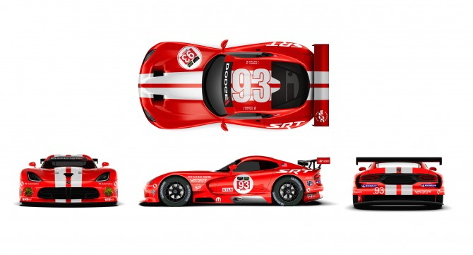 SRT MOTORSPORTS VIPERS SHED SKIN FOR CLASSIC LOOK