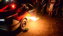 Flame Shooting Audi at Foutecross 2014
