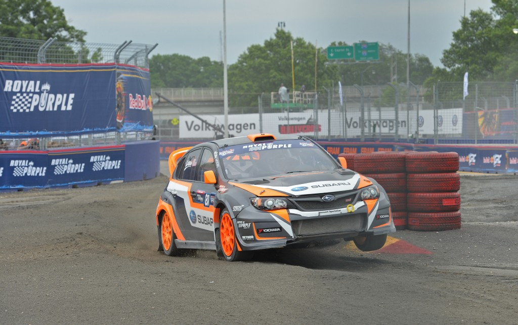 Subaru Rally Team USA driver Bucky Lasek qualified second fastest at Red Bull Global Rallycross in Washington D.C.