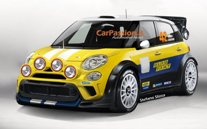 Fiat 500L WRC Render
