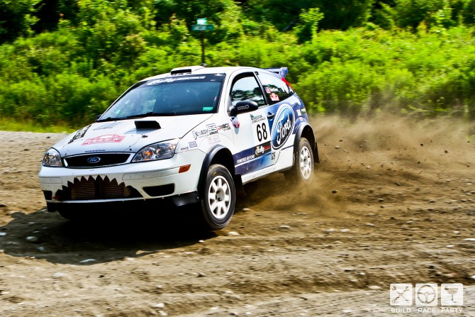 Mainiax Rally Team Drivers Erik Potts  and Michael Reilly –  2014 New England Forest Rally