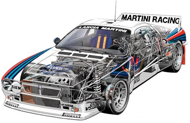 Race Car Cutaways