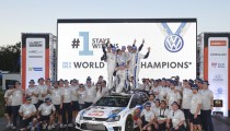 VOLKSWAGEN IS WORLD RALLY CHAMPION* FOR SECOND CONSECUTIVE YEAR, FOLLOWING ONE-TWO-THREE VICTORY IN AUSTRALIA