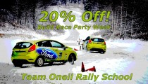BRP Rally Week: 20% Off Team Oneil Rally School