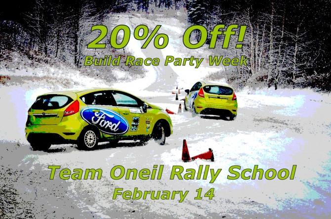 BRP Rally Week: 20% Off Team Oneil Rally School