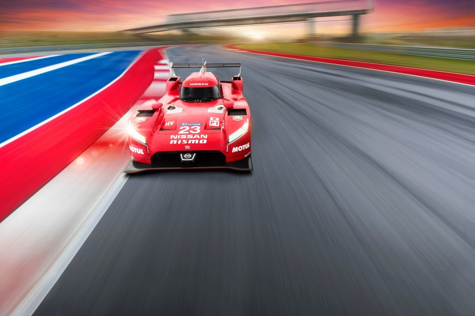 Nissan GT-R LM NISMO action front