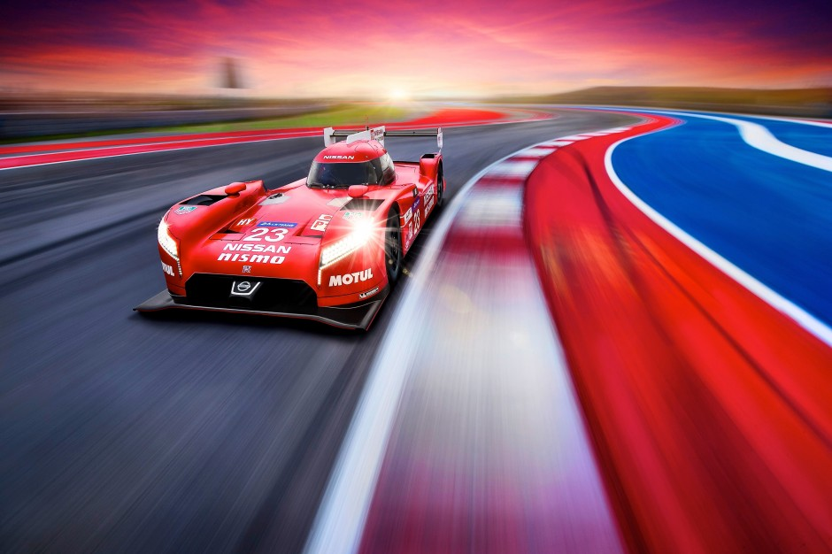 Nissan GT-R LM NISMO action front three quarters