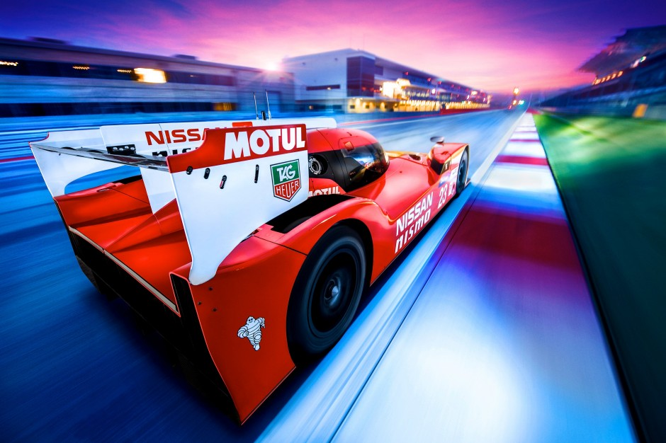 Nissan GT-R LM NISMO action rear three quarters