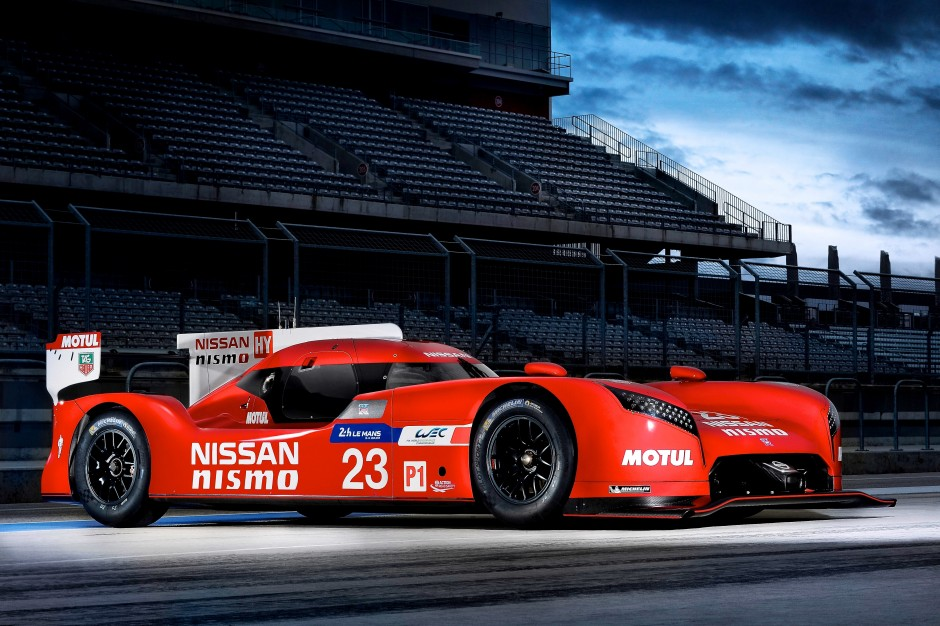 Nissan GT-R LM NISMO static front three quarters