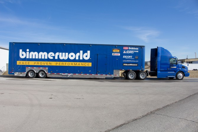 "For Sale: Bimmerworld Racecar Hauler ""Old Blue"""