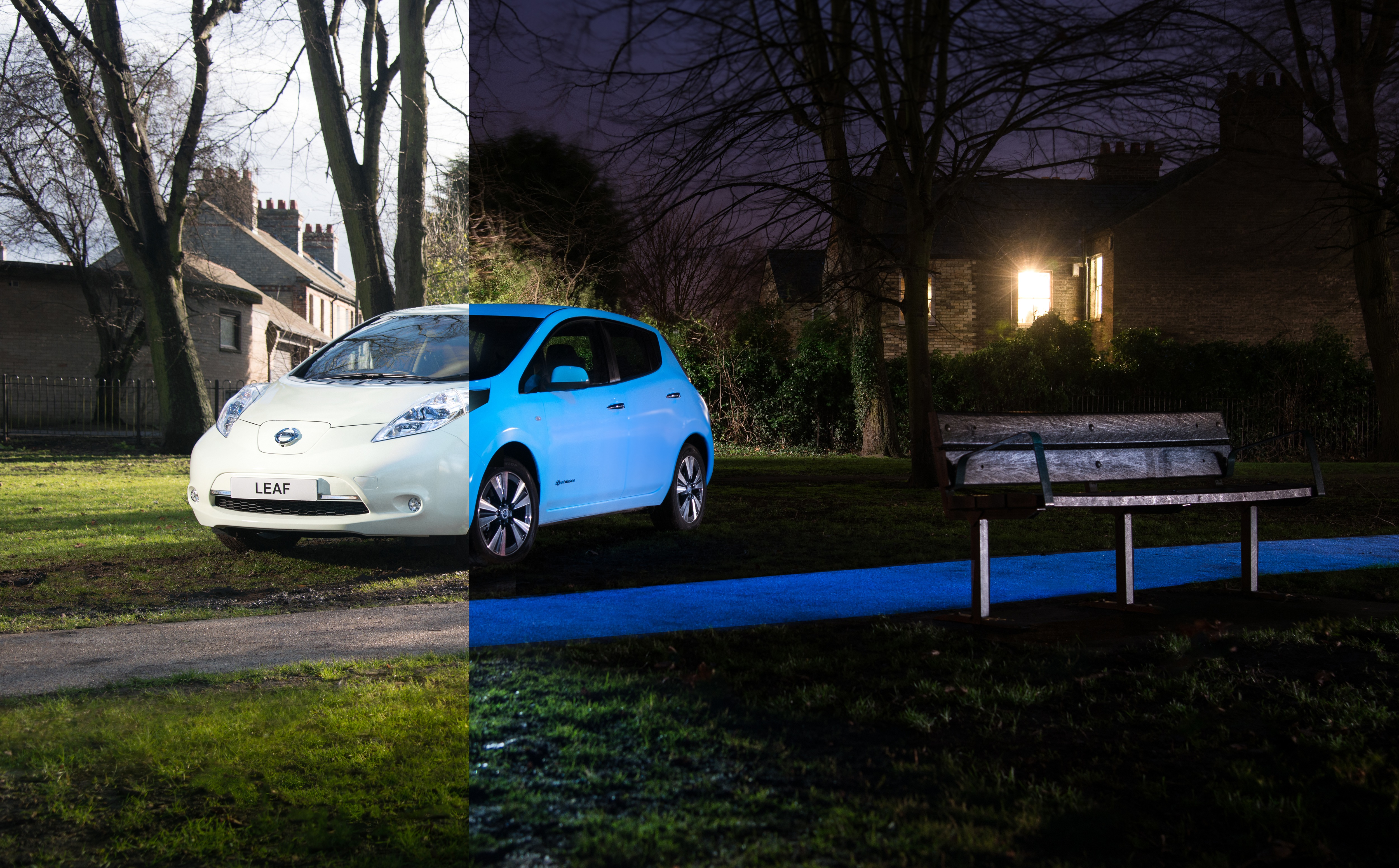 factory glow in the dark car paint nissan makes it a reality