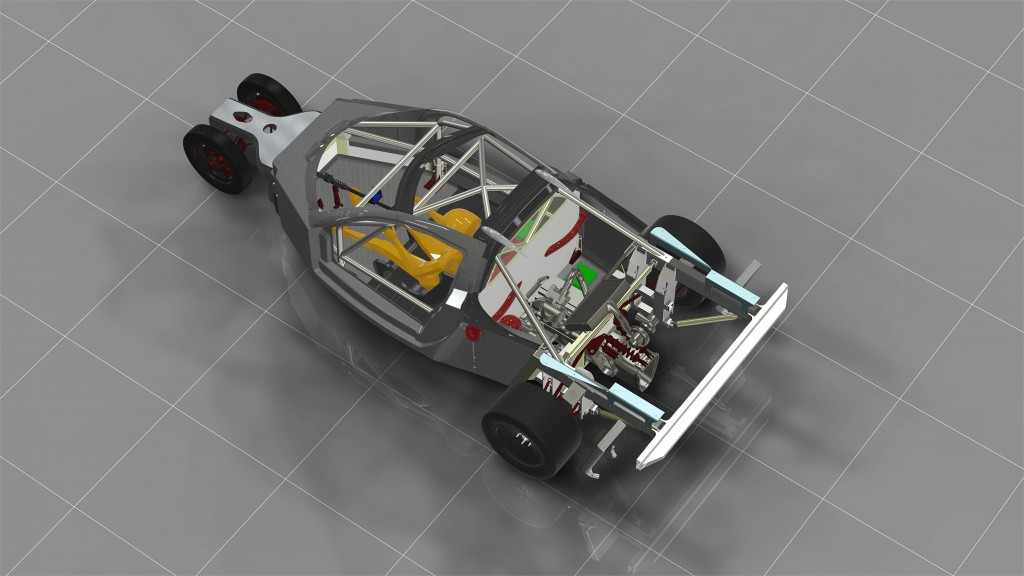 DeltaWing GT race car concept chassis