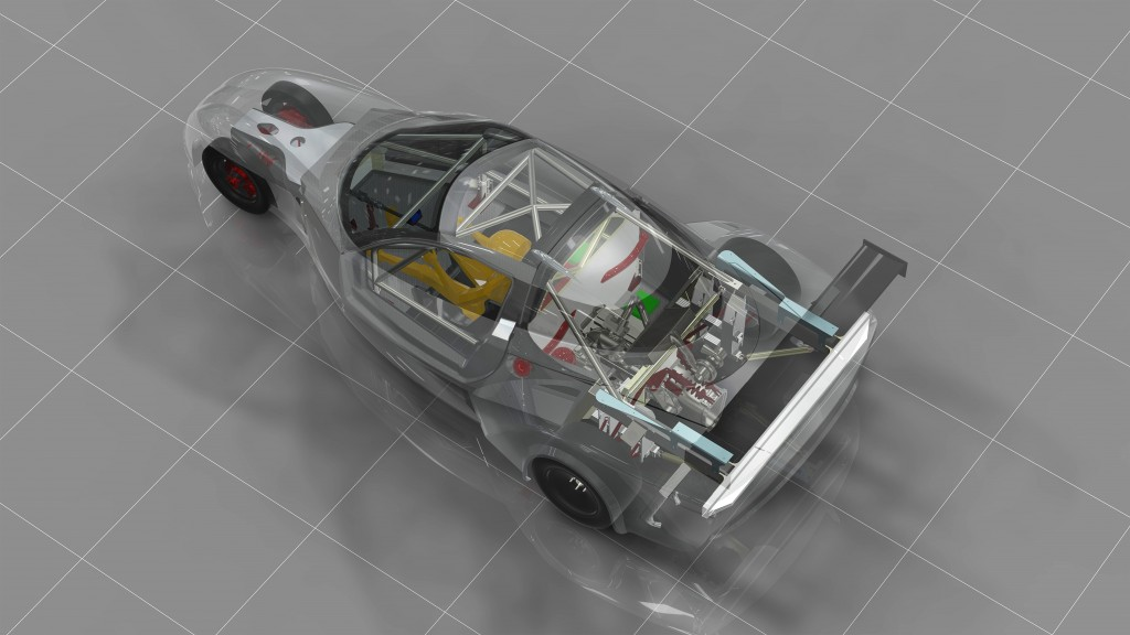DeltaWing GT race car - early concept 1