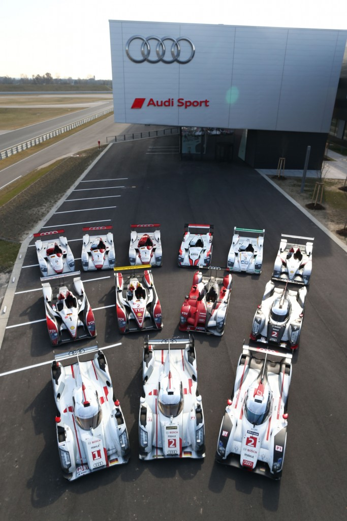 LeMans winning Audi race cars 2000 - 2014