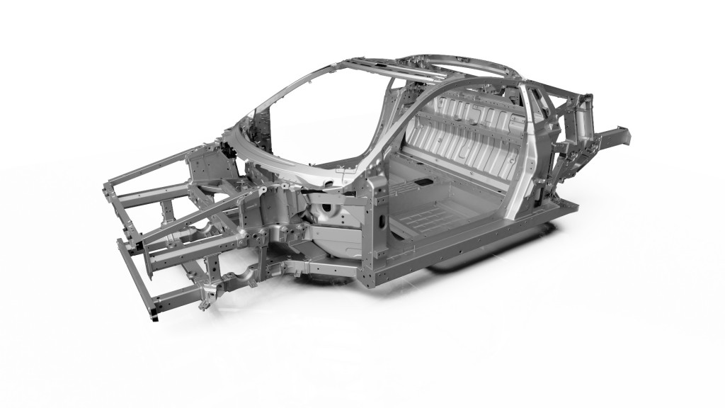 NSX Multi-material space frame