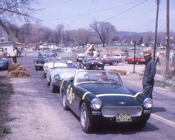 vintage cars at empire hill climb