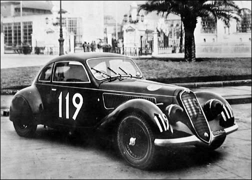 ALFA ROMEO 1750 GS Zagato at the 1929 Mille Miglia