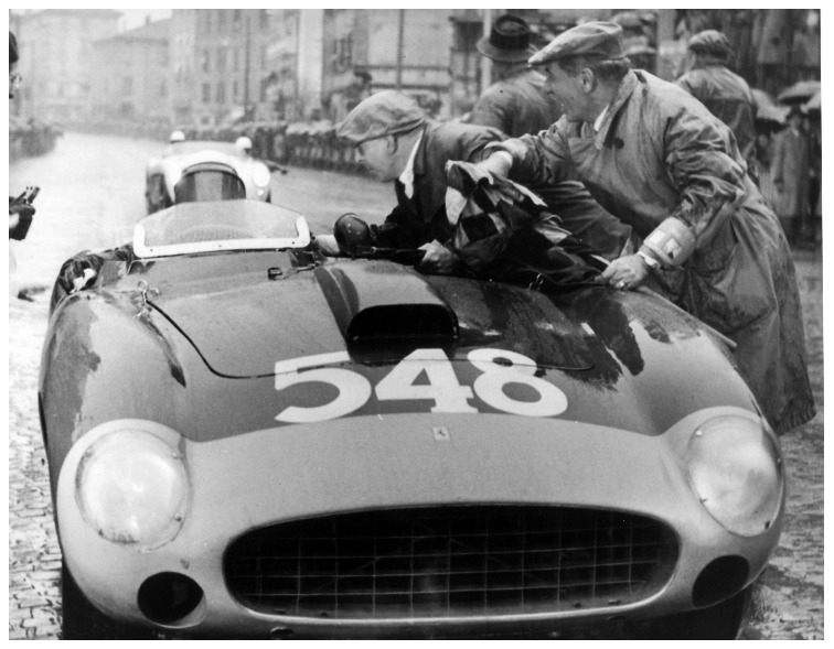 Eugenio Castellotti at the 1956 Mille Miglia