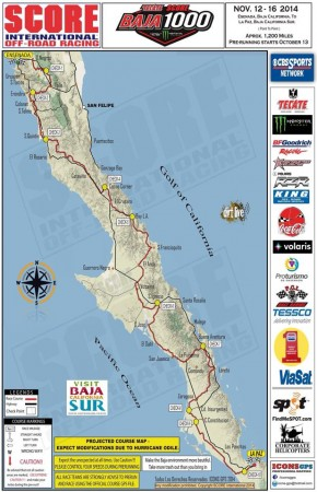 baja 1000 2014 course map