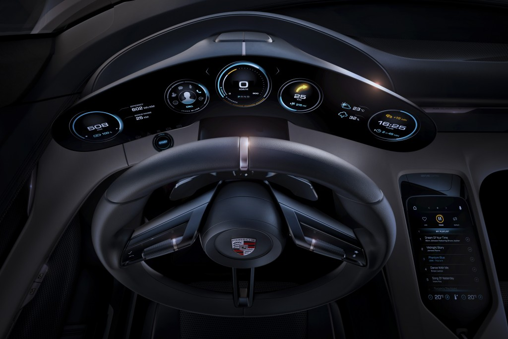 Porsche E Mission dashboard