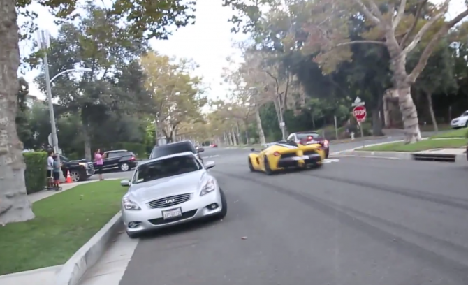 Too Rich For Racetracks? La Ferrari Rips Up Beverly Hills