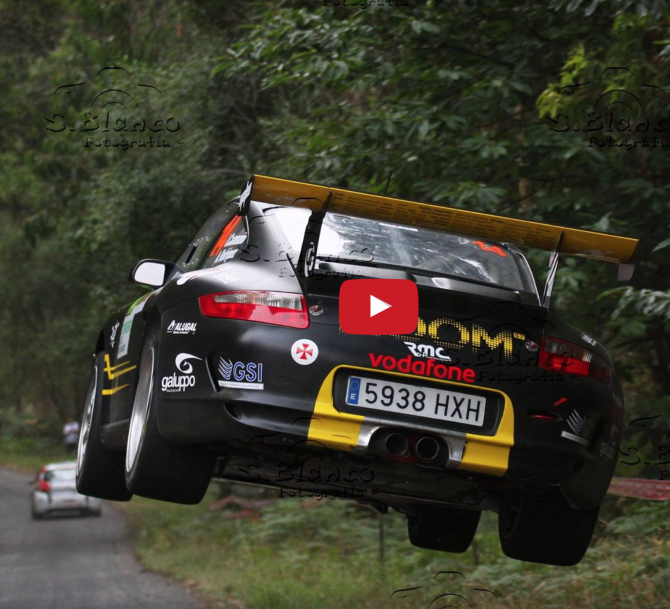 Flying Porsches And Rally Spectators