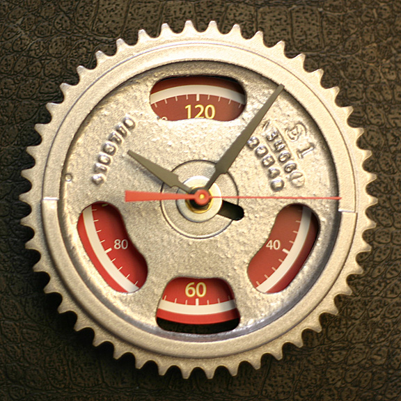 auto_timing_gear_wall_clock_dodge_viper