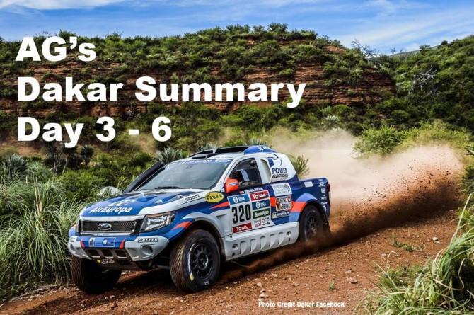 AG's Dakar updates, Day 3-7