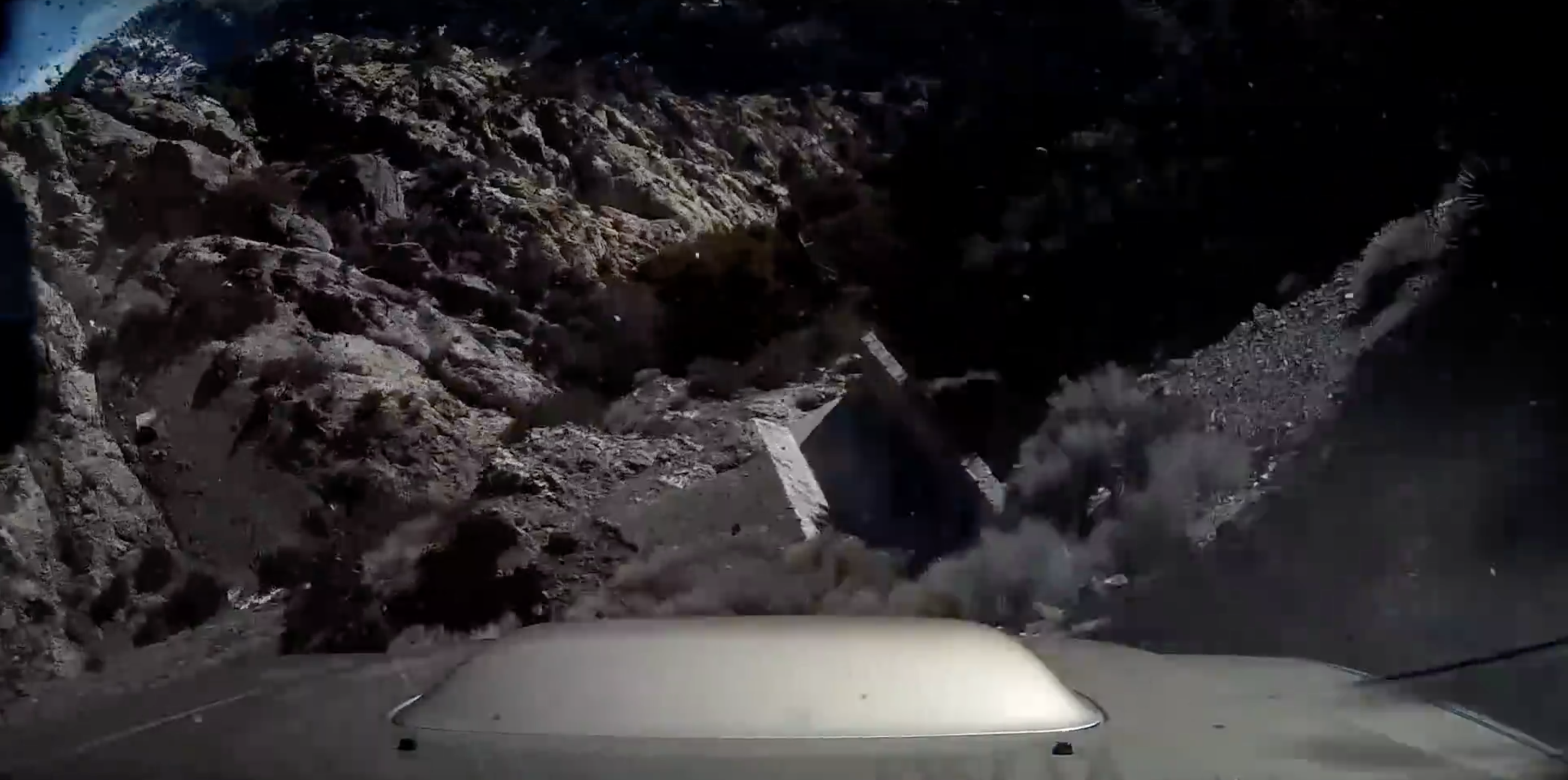subaru drives off cliff