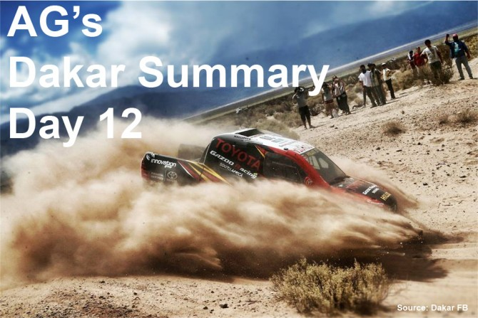 AG's Dakar Updates – Day 12