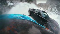 Corvette C6 Z06 and Toyota Supra Snow Drift!