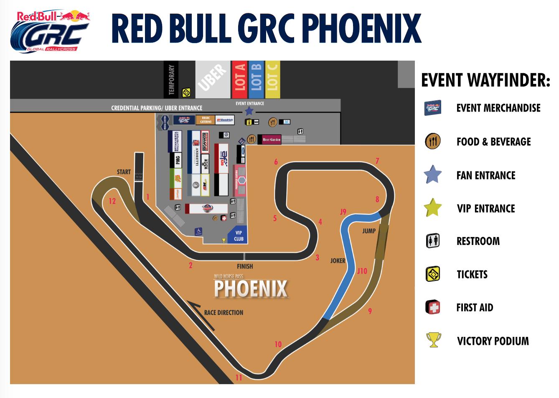 GRC Phoenix track map