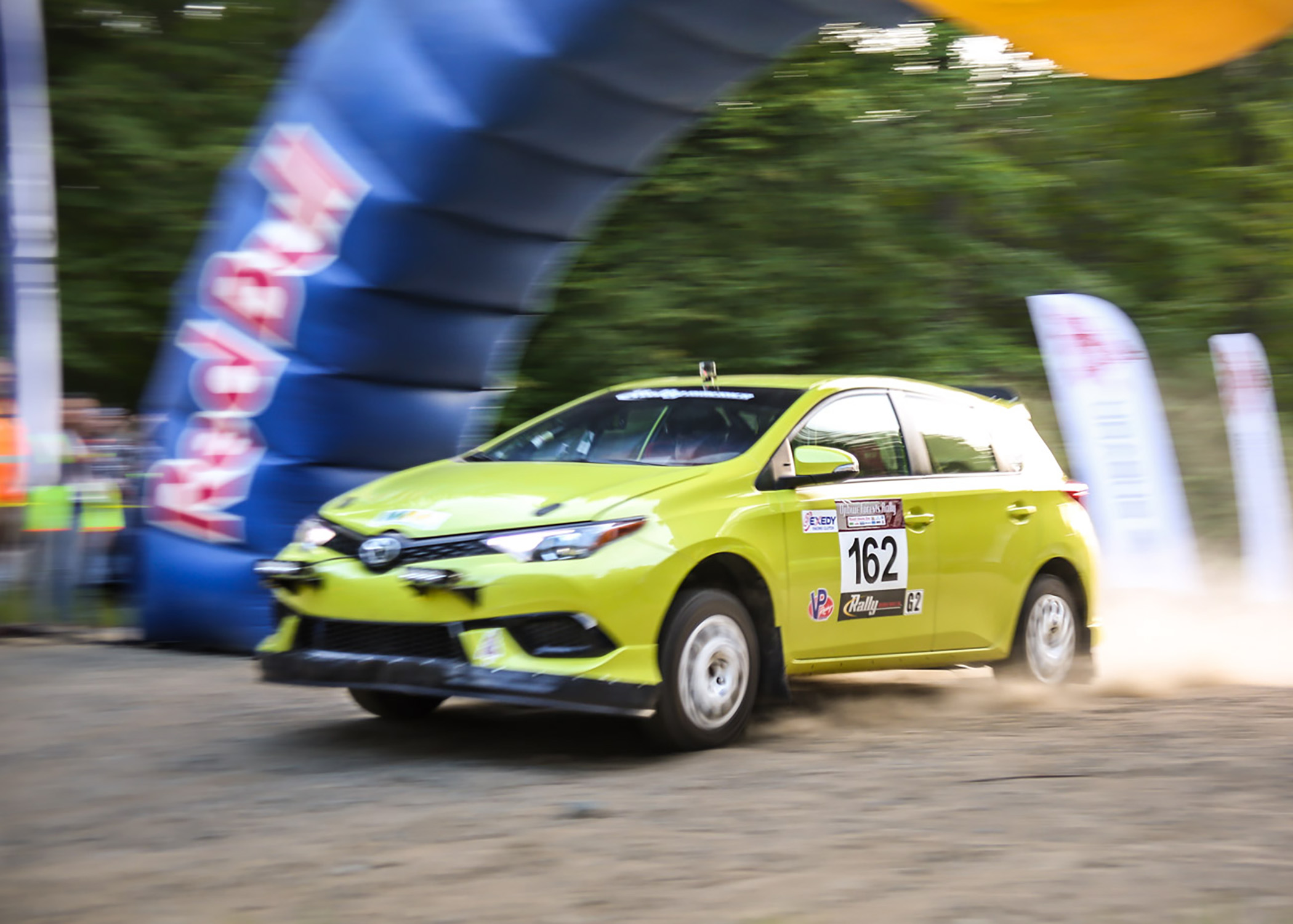 The Toyota Techncial Cneter Rally Team (TTCRT) drove their 2016 Corolla iM to a 3rd place finish at the 2016 Ojibwe Forest Rally.