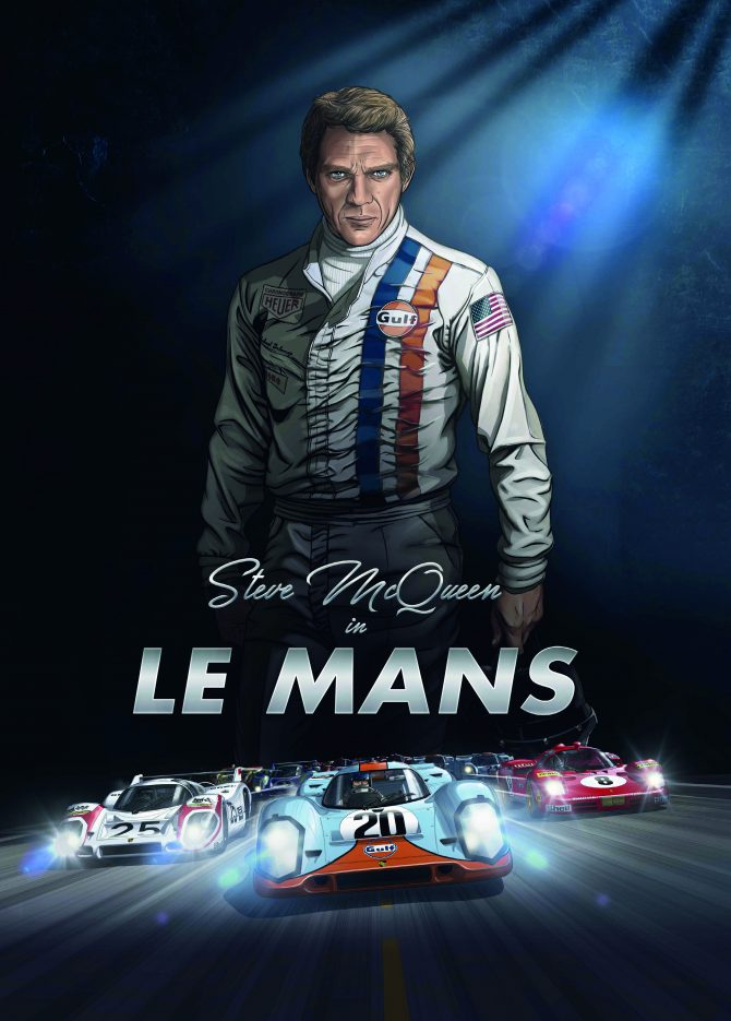 Steve McQueen in Le Mans: new graphic novel