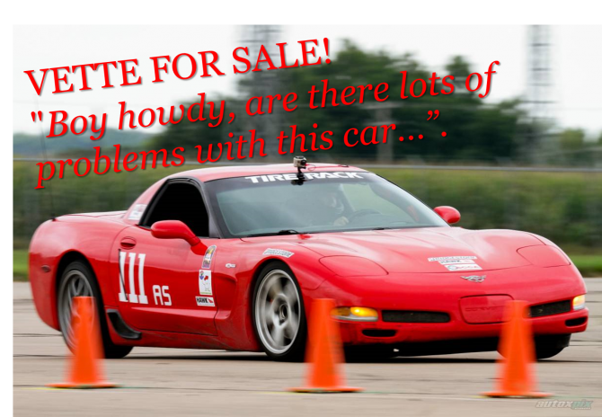 "Corvette Z06 for sale…""if you give a shit"""